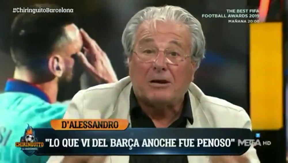"""D'Alessandro no pudo dormir tras el partido del Barça: """"Fue penoso"""""""