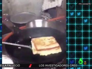 La ingeniosa forma de hacer un sándwich de tortilla francesa que ha sorprendido hasta al propio Alberto Chicote