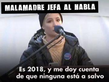 Halsey en la marcha de las mujeres de 2018 en EEUU