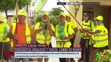 Pensionistas andaluces y vascos han iniciado una caminata con destino Madrid
