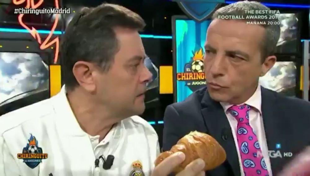 """Tomás Roncero se venga de Cristóbal Soria tras la victoria del Madrid ante el Sevilla: """"Benzema te quiso preparar un croissant"""""""