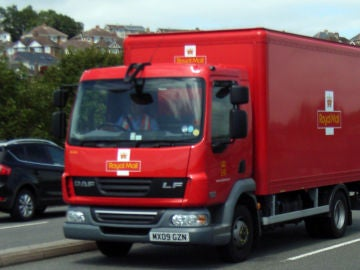 Un camión de Royal Mail