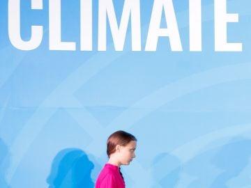 La joven activista sueca Greta Thunberg participa en la Cumbre de Acción Climática