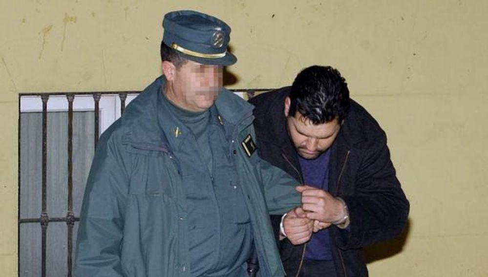 El violador en serie de Málaga en el momento de su detención