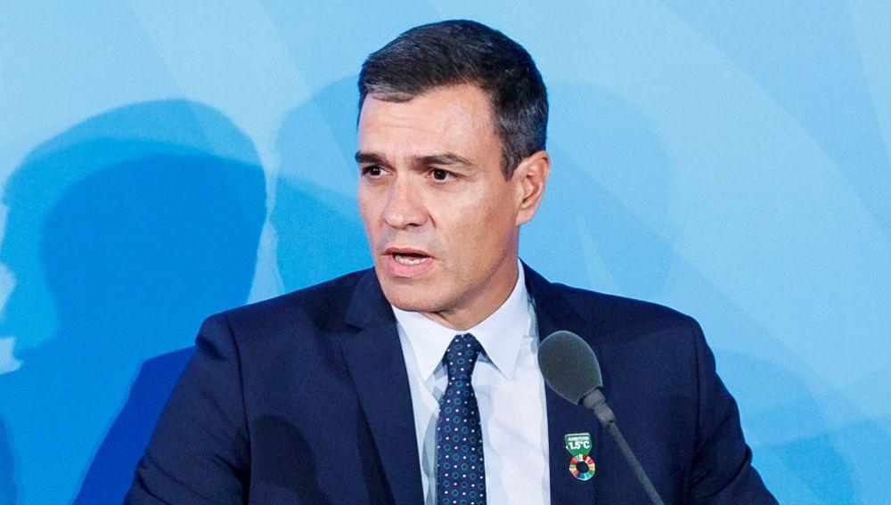 Pedro Sánchez, en la Cumbre de Acción Climática