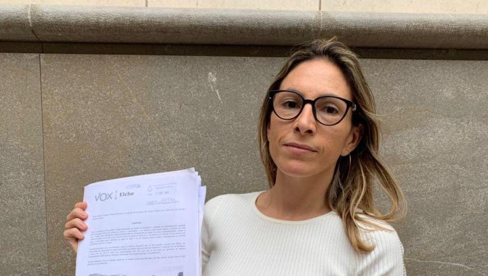 Amparo Cerdá, la portavoz de Vox en Elche