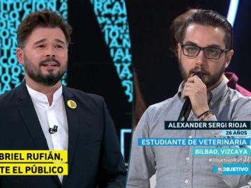 Gabriel Rufián responde a un ciudadano