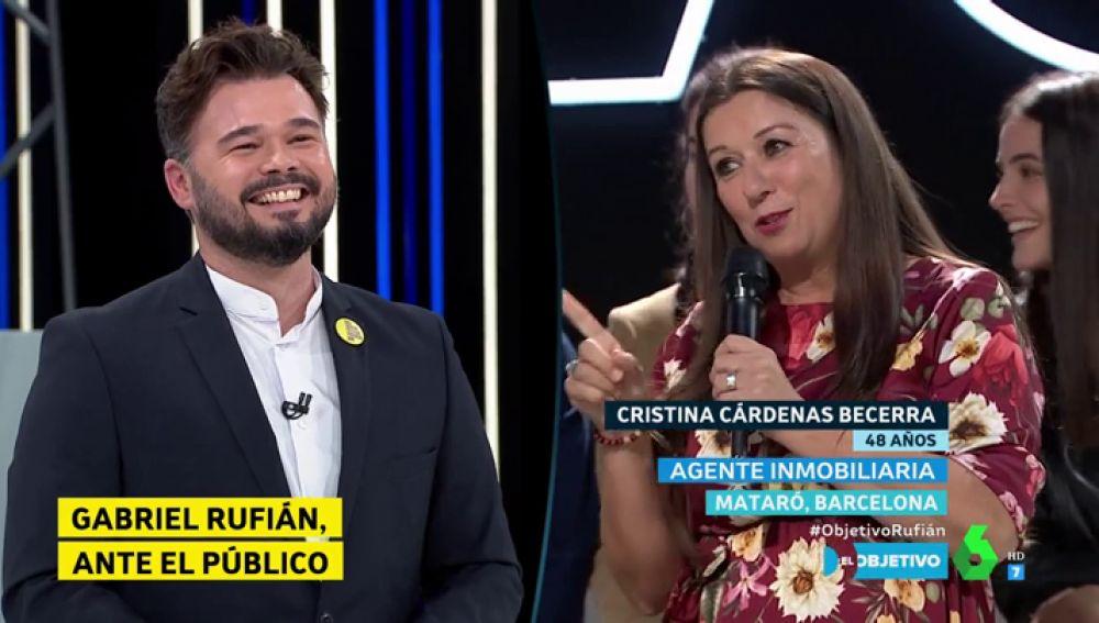 La confesión de una catalana que sorprende a Rufián