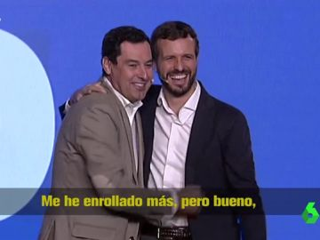 """La surrealista pillada a Pablo Casado con un micro abierto en un mitin del PP: """"Ahora a matarlos de aburrimiento"""""""