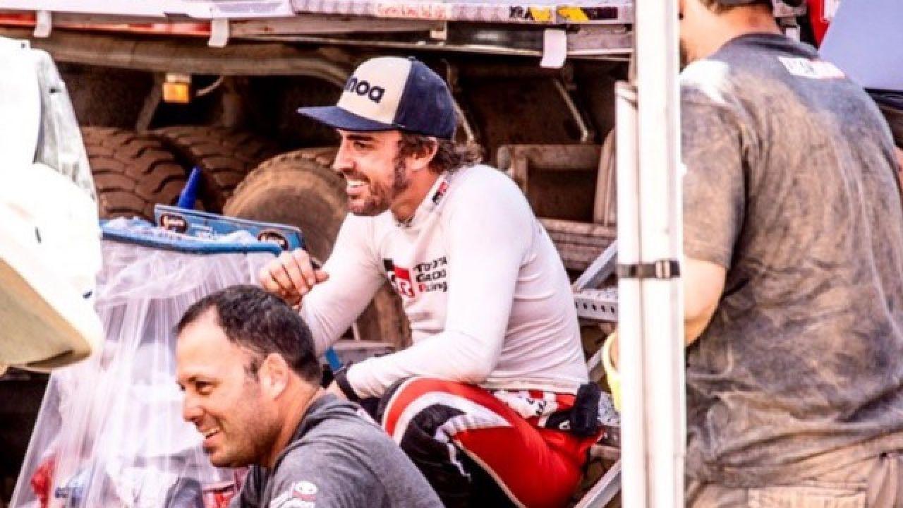 Alonso, en la última imagen que ha compartido desde Marruecos.