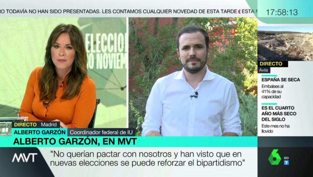 """Alberto Garzón, sobre el PSOE: """"No querían pactar con nosotros y han visto que otras elecciones pueden llevar a acuerdos con Cs o PP"""""""