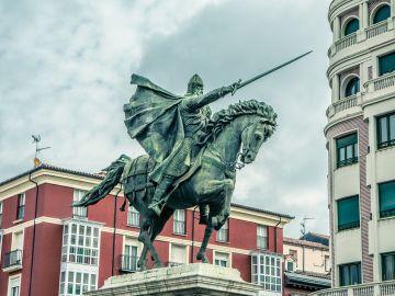 Estatua del Cid en Montano, Burgos