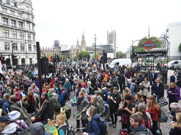 Más de veinte detenidos por las protestas de Extinction Rebellion en Londres