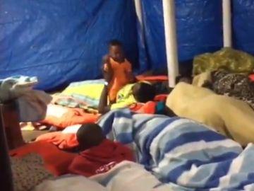 Uno de los niños recatados por el Open Arms