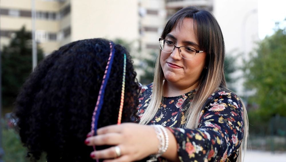 Petra Ferreyra junto a su hija Camila