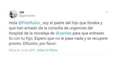 Jorge García denuncia en Twitter el trato de favor a Pilar Rubio en un hospital privado