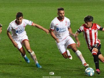 Darío Sarmiento, en su debut con Estudiantes frente a Huracán el pasado sábado.