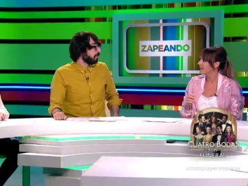 Lorena Castell, Quique Peinado y Anna Simon
