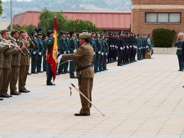 El director general de la Guardia Civil, Félix Vicente Azón, durante los actos del día de la patrona del cuerpo en Barcelona