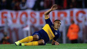 Wanchope Ábila, durante un partido de Boca Juniors