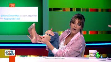 La sorprendente pillada de un espectador a Anna Simon en pleno directo de Zapeando