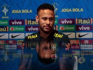 Neymar, en rueda de prensa