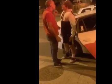 Instantes previos a la agresión del taxista