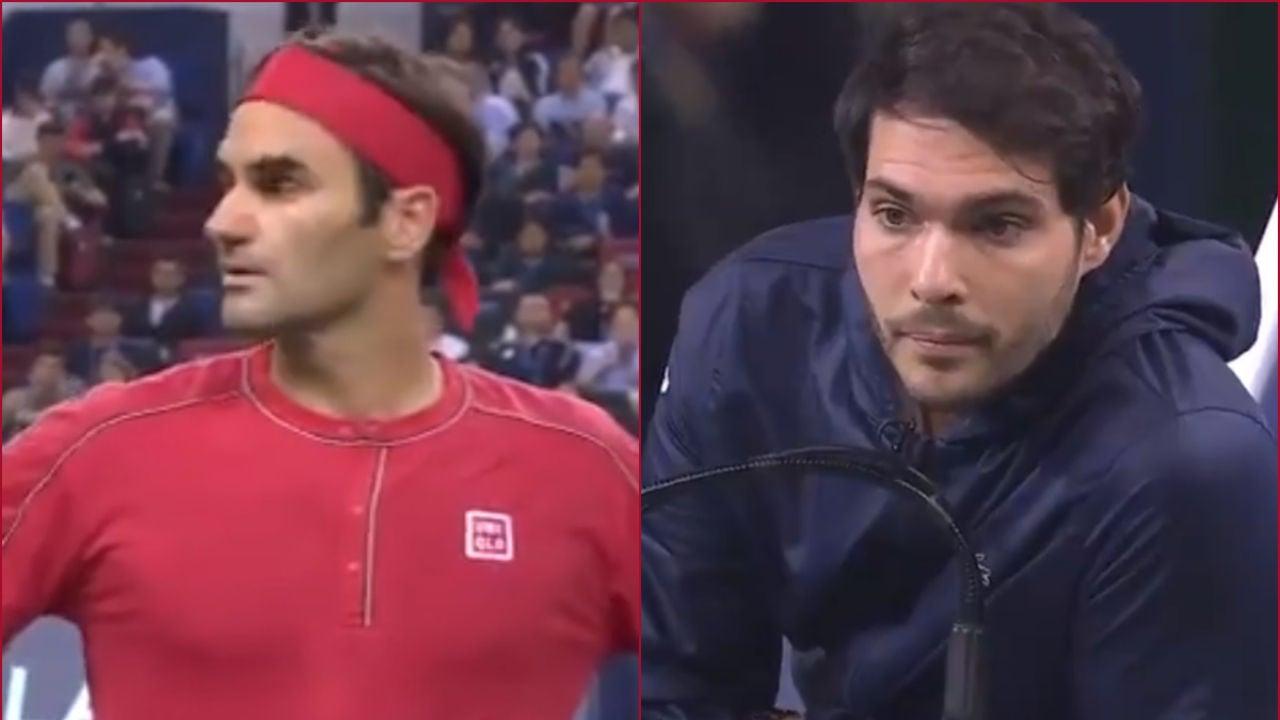 Roger Federer y Nacho Forcadell