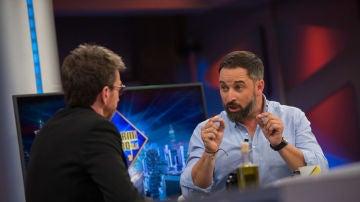 Santiago Abascal, durante su entrevista en El Hormiguero