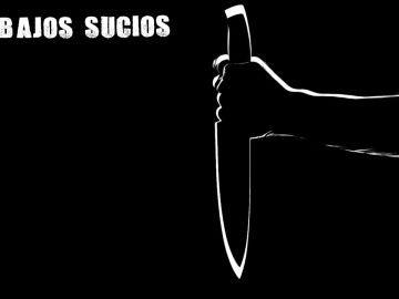 Una mano cogiendo un cuchillo