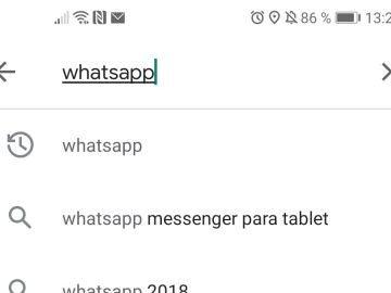 Captura de pantalla de la búsqueda de WhatsApp en Play Store