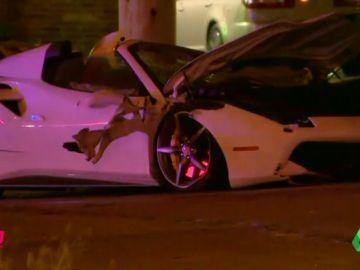 Salen a la luz las imágenes del terrible accidente de Errol Spence en su Ferrari
