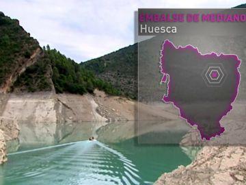 El embalse de Mediano, el reflejo más duro y fiel del problema del agua que está atravesando España