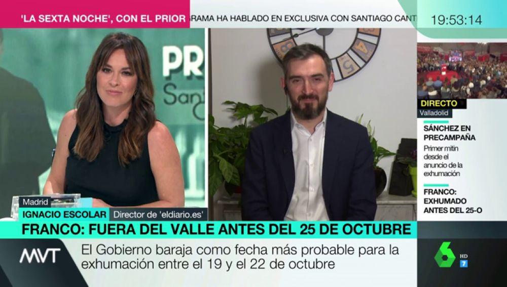 """Ignacio Escolar, sobre Vox: """"Considera que los homosexuales tienen menos derechos que los españoles de bien y heterosexuales como Abascal"""""""