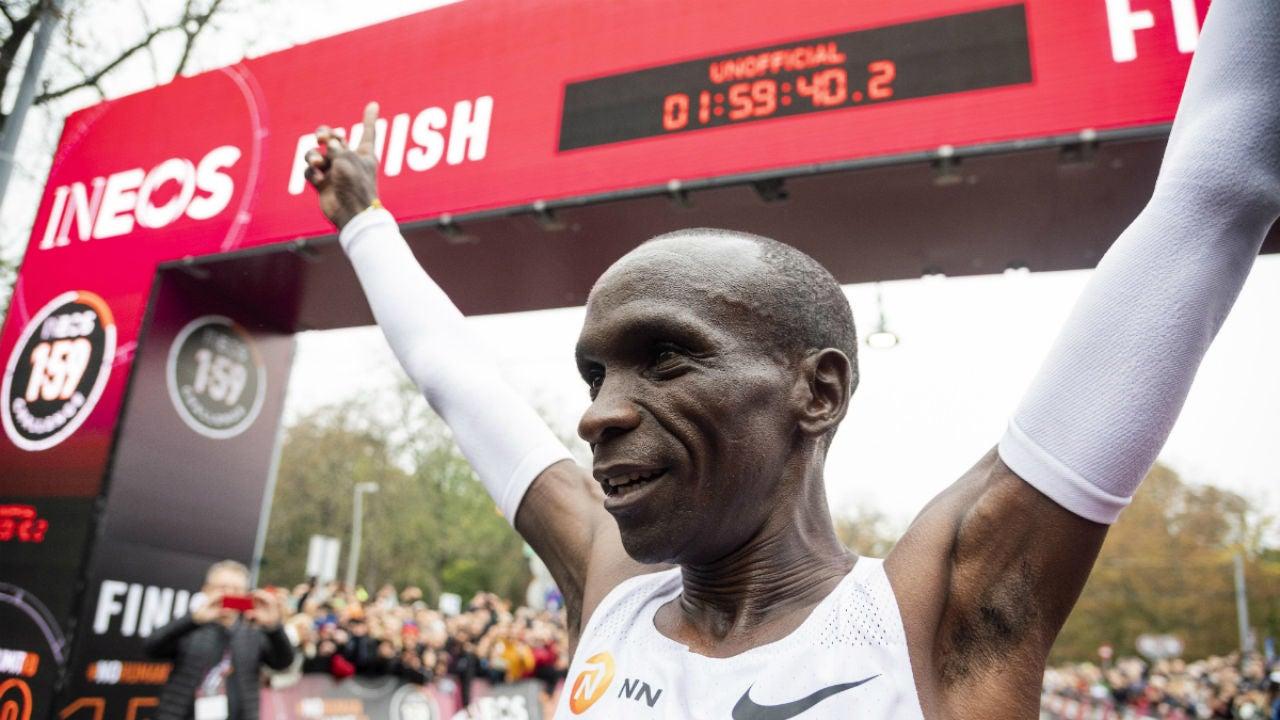 Kipchoge y su 1.50:40 en distancia de maratón