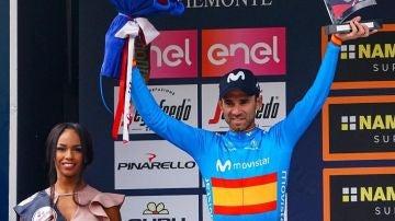 Alejandro Valverde, en Il Lombardía