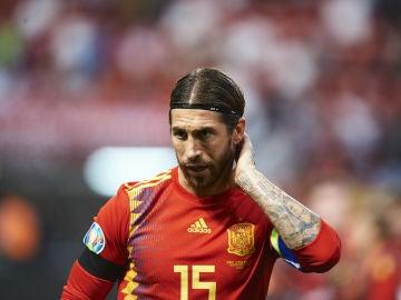 Sergio Ramos, con España