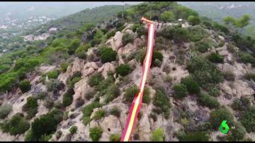 Bandera de España de 50 metros en El Maresme
