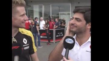 Hulkenberg y Sainz en el GP de Japón