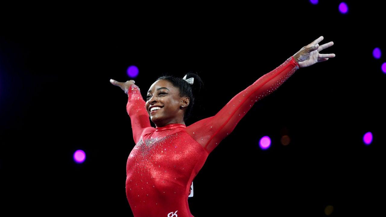 Simone Biles, tras una victoria