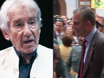 José Sacristán y Javier Ortega Smith