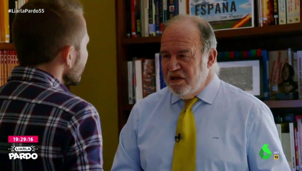 Juan Chicharro, presidente de la Fundación Francisco Franco