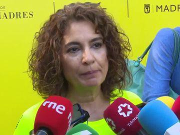 María Jesús Montero ante los medios