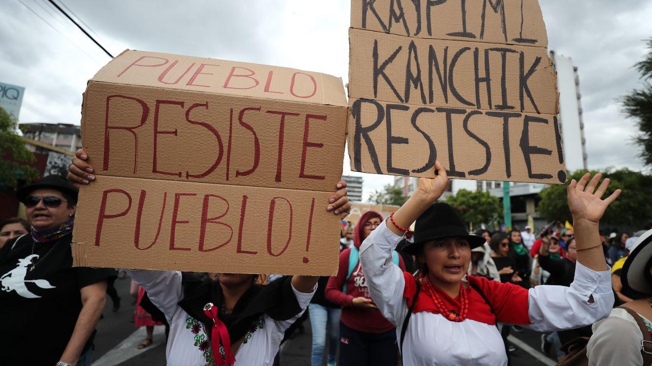 Imagen de una de las movilizaciones que han tenido lugar en Ecuador durante estos días.