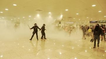 Imagen de las protestas en el aeropuerto de El Prat