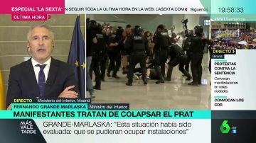 """Grande-Marlaska: """"La Policía, la Guardia Civil y los Mossos no se enfrentan a nadie, actúan cuando es necesario"""""""