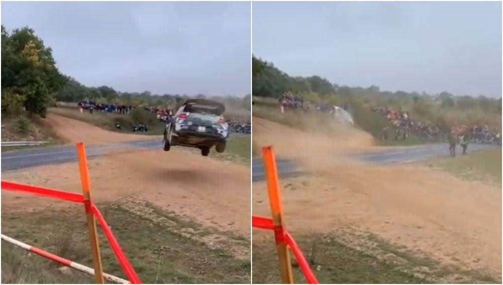 Espeluznante accidente en un rally de Francia