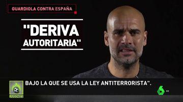 Guardiola ataca a España