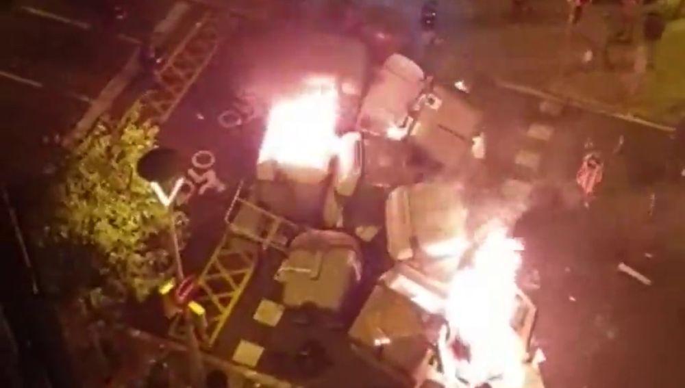 Las protestas de Barcelona, a vista de 'pájaro': imágenes de las barricadas y las movilizaciones