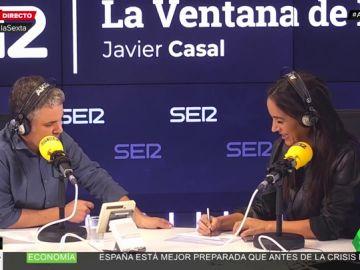 Begoña Villacís en un entrevista en la Cadena Ser
